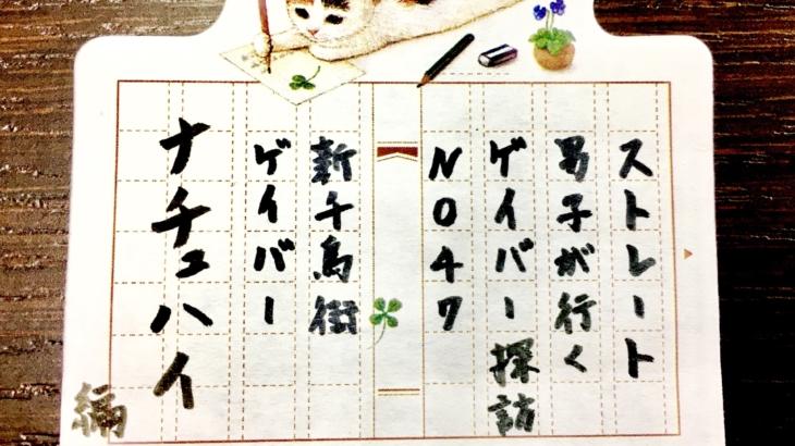 No.47 新千鳥街ゲイバー ナチュハイ 編